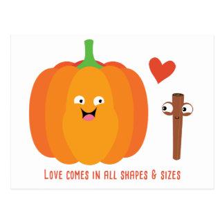 Pumpkin Spice Love Cute Fall Postcard