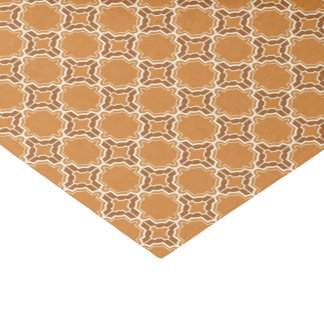 Pumpkin Spice Moroccan Lattice Pattern Tissue Paper