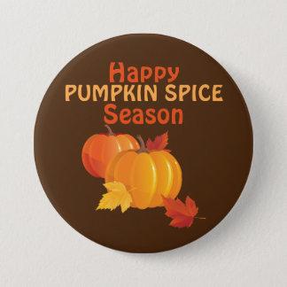 Pumpkin Spice Season Large, 3 Inch Round Button