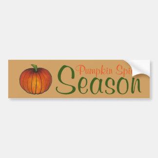 Pumpkin Spice Season Orange Autumn Bumper Sticker