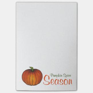 Pumpkin Spice Season Orange Autumn Post-It Notes