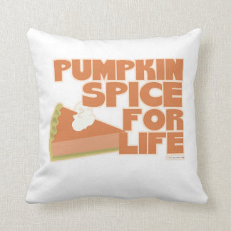 Pumpkin Spice Snappy Saying Pillow