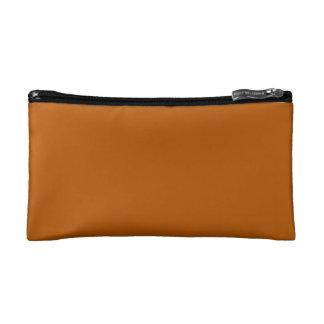 Pumpkin Spice Solid Color Makeup Bags