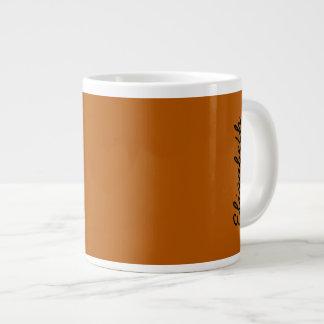 Pumpkin Spice Solid Color Large Coffee Mug