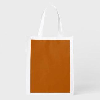 Pumpkin Spice Solid Color Market Tote