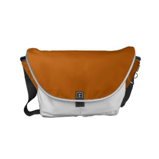Pumpkin Spice Solid Color Messenger Bags
