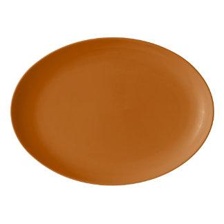 Pumpkin Spice Solid Colour Porcelain Serving Platter