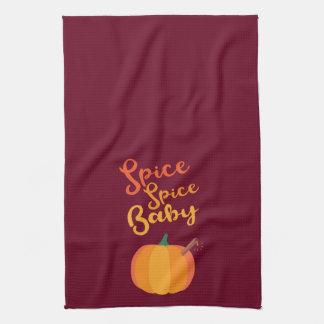 """Pumpkin Spice """"Spice Spice Baby"""" Kitchen Towel"""