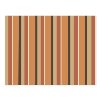 Pumpkin Spice Stripes Postcard