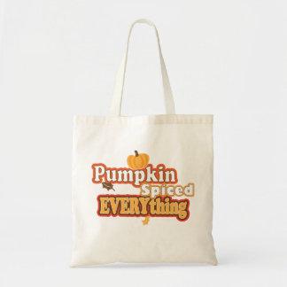 Pumpkin Spiced Everything Budget Tote Bag