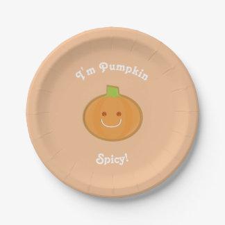 Pumpkin Spicy | Paper Plate