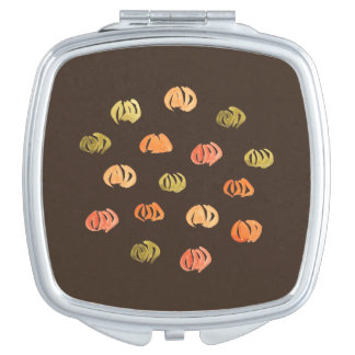 Pumpkin Square Compact Mirror