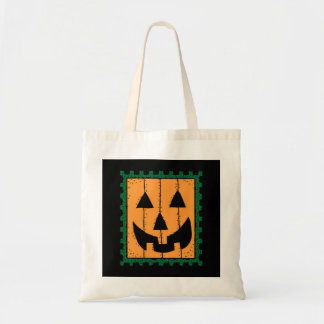Pumpkin Stamp Halloween Tote Bag
