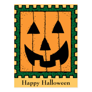Pumpkin Stamp Postcard