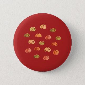 Pumpkin Standard Round Button