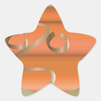 pumpkin star sticker