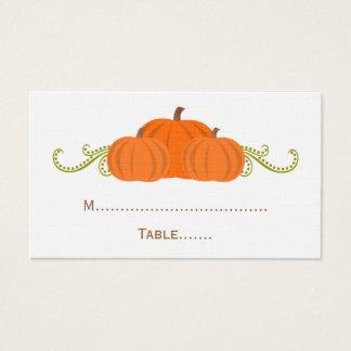 Pumpkin Swirls Fall Wedding Place Card