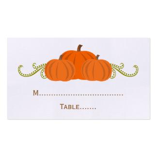 Pumpkin Swirls Fall Wedding Place Card Business Card