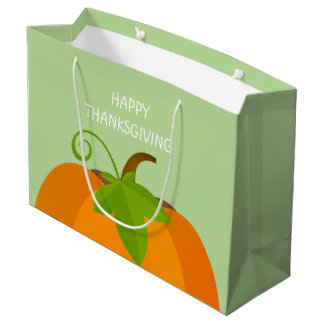 Pumpkin Top Large Gift Bag