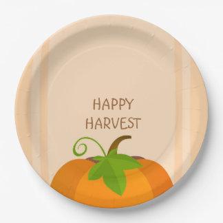 Pumpkin Top Paper Plate