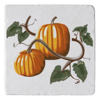Pumpkin Vine Pumpkins Marble Stone Trivet