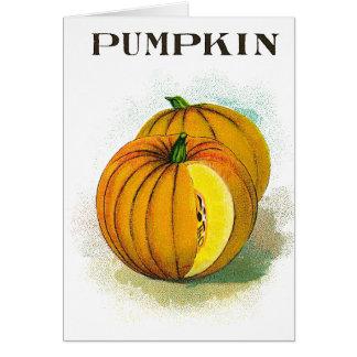 Pumpkin - Vintage Seed Crate Label Card