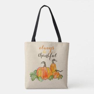 Pumpkin Watercolor Pumpkins Halloween Thanksgiving Tote Bag