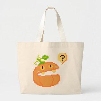 Pumpkin What Pixel Jumbo Tote Jumbo Tote Bag