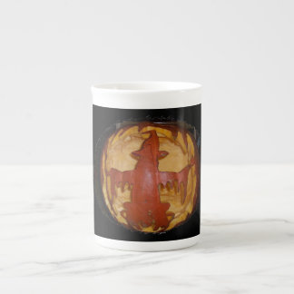 Pumpkin Witch Bone China Mug