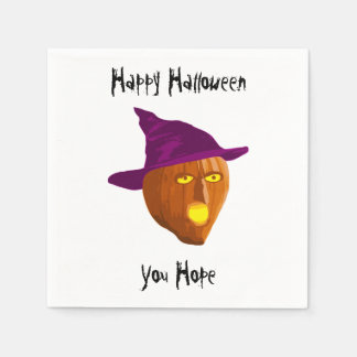 Pumpkin Witch: Happy Halloween - You Hope Paper Napkins