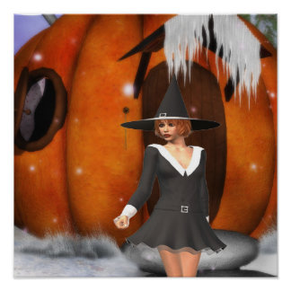 Pumpkin Witch Posters