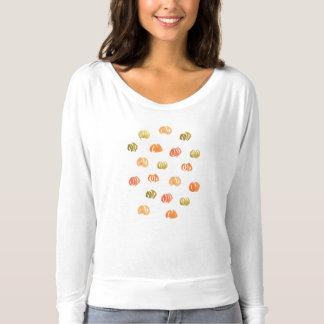 Pumpkin Women's Flowy Off Shoulder T-Shirt