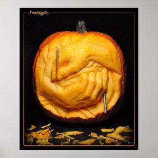 Pumpkingutter Poster - Carving Hands