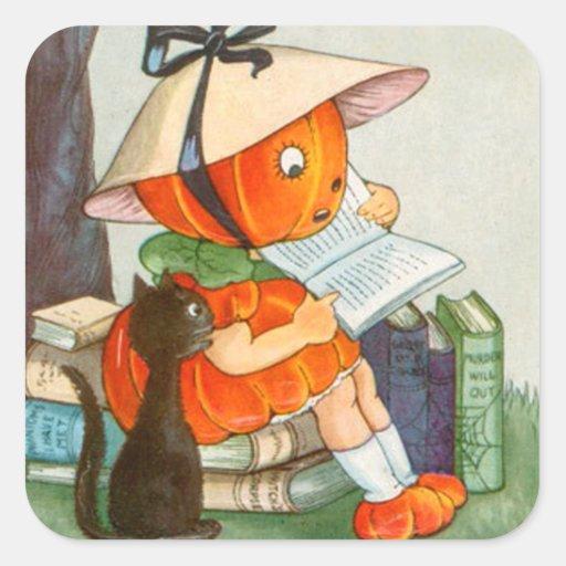 Pumpkinhead Black Cat Jack O Lantern Pumpkin Stickers