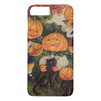 Pumpkinhead Black Cat Pumpkin Jack O Lantern iPhone 8 Plus/7 Plus Case