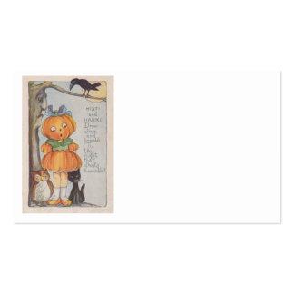 Pumpkinhead Jack O Lantern Crow Black Cat Owl Business Card