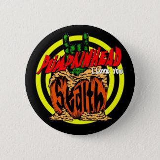 Pumpkinhead Zombie Rock Button