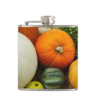Pumpkins And Gourds Hip Flask