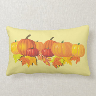 Pumpkins and Leaves Accent Pillow