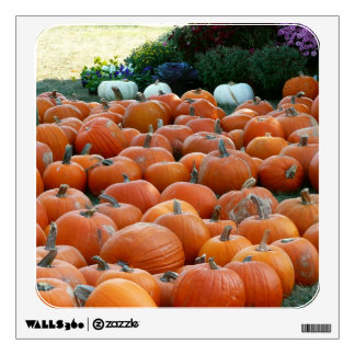 Pumpkins and Mums Autumn Harvest Photography Wall Sticker