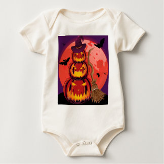 Pumpkins and Red Moon Baby Bodysuit