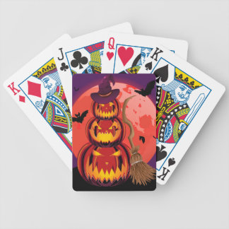 Pumpkins and Red Moon Bicycle Playing Cards
