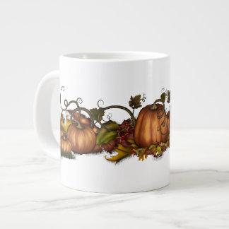 Pumpkins & Autumn Leaves Large Coffee Mug