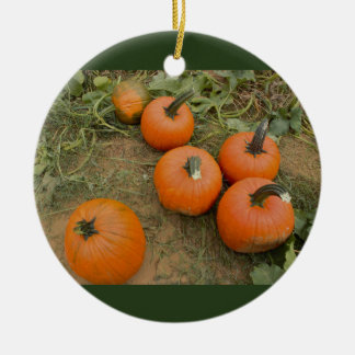 Pumpkins Ceramic Ornament