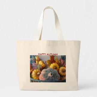Pumpkins Display, HAPPY AUTUMN Tote Bag