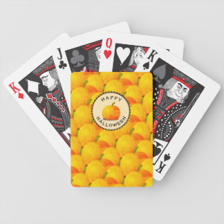 Pumpkins Happy Halloween Bicycle Playing Cards