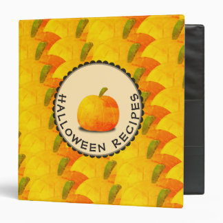 Pumpkins Happy Halloween Recipes Vinyl Binder