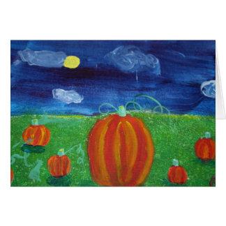 Pumpkins in Field Card