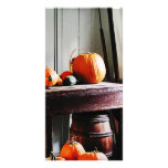 Pumpkins in Kitchen Picture Card