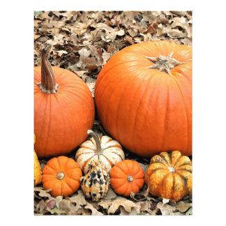 Pumpkins In Leaves Letterhead
